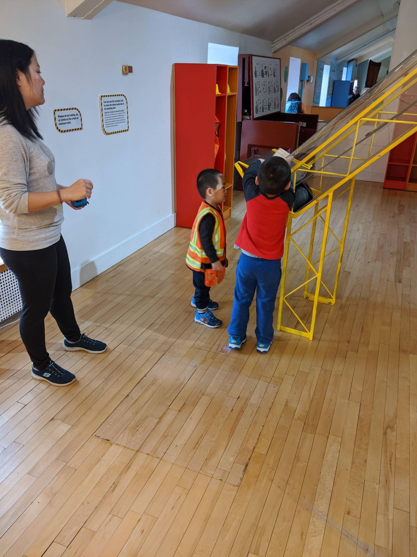 children exploring the children's museum