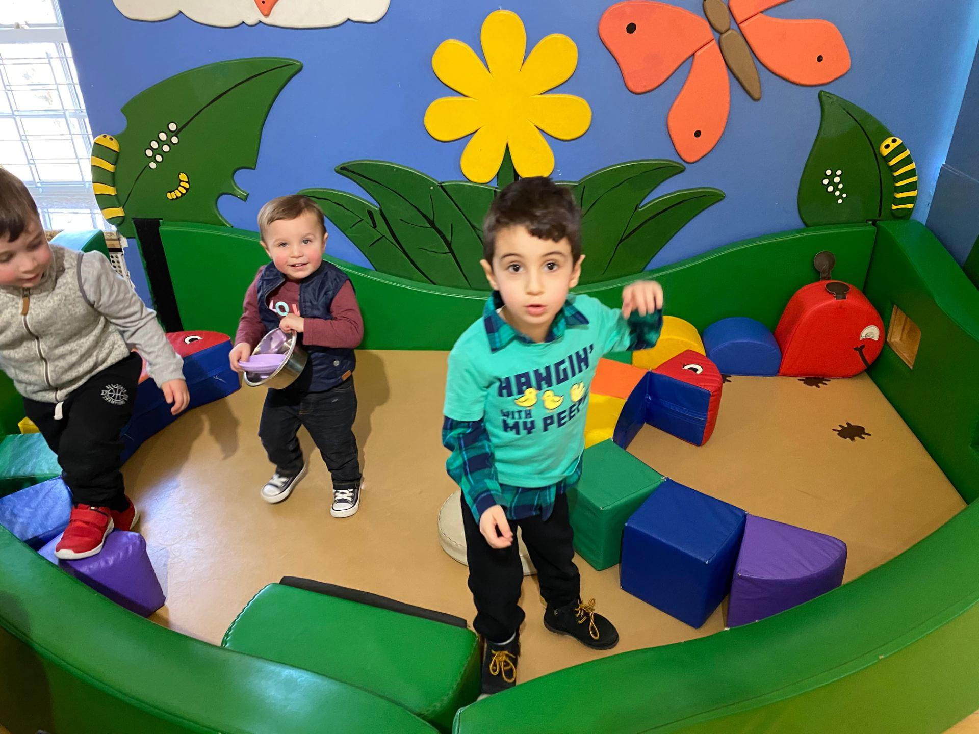 friends exploring the children's museum at snug harbor